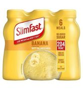 Slimfast Blissful Banana Flavour Shakes 204KCal Each 2x (6x 325ml) Best Before End APRIL21