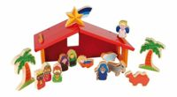 Small Foot children's wooden colorful crib