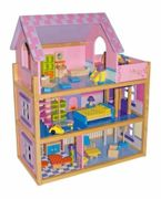 Small Foot large wooden pink dollhouse