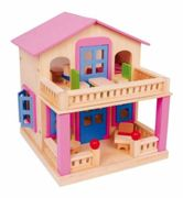 Small Foot pink dollhouse with terrace Clara