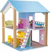 Small Foot wooden dollhouse Blue Roof