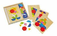 Small Foot wooden puzzle mosaic in a box