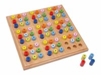 Small Foot wooden sudoku colored rollers