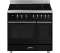 Smeg Classic C92IPBL9-1 90cm Electric Range Cooker with Induction Hob - Black