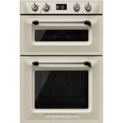 Smeg DOSF6920P1 60cm Victoria Built-In Multifunction Double Oven Cream