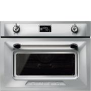 Smeg SF4920MCX1 Built In Compact Electric Combination Microwave Oven
