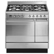 Smeg SUK92MX9-1 90cm Dual Fuel Twin Range Cooker - STAINLESS STEEL