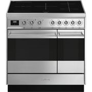 Smeg SY92IPX9 90cm Symphony Pyrolytic Induction Range Cooker - STAINLESS STEEL