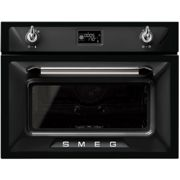 Smeg Victoria SF4920VCN1 Built In Compact Electric Single Oven with added Steam Function - Black - A+ Rated