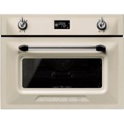 Smeg Victoria SF4920VCP1 Built In Compact Electric Single Oven with added Steam Function - Cream - A+ Rated