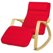 SoBuy® FST16-R, Rocking Chair Lounge Chair with Side Storage Bag