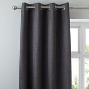 Solar Slate Blackout Eyelet Curtains Grey