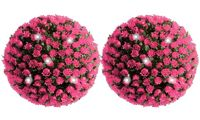 Solar Topiary Ball: Pink / Two