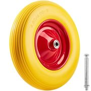 Solid rubber trolley wheel - yellow