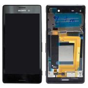 Sony Xperia M4 Aqua Dual Front Cover %26 LCD Display - Black