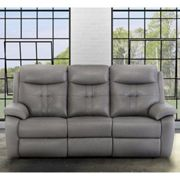 Sophia Faux Leather Electric Recliner 3 Seater Sofa In Grey