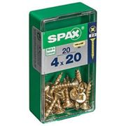Spax PZ Countersunk Zinc Yellow Screws - 4 x 20mm Pack of 20