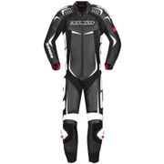 Spidi Track Wind Pro One Piece Motorcycle Leather Suit, black-white, size 52