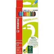 STABILO Colouring Pencils GREENcolors Assorted 12 Pieces