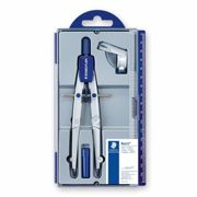 Staedtler Noris Club 550 01 School Compass with Centre Wheel Set with Universal Adapter and Lead Box