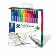 Staedtler Triplus Fineliner Brilliant Colours Pack 36, Assorted