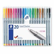 Staedtler Triplus Fineliner Pen Pack of 20, Assorted