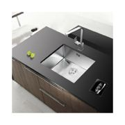 Stainless Steel Square Kitchen Undermount Sink Single Bowl Drainer