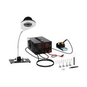 Stamos Soldering Set Soldering Station with integrated Mains Adapter + Accessoires S-LS-1