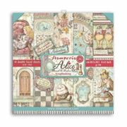 Stamperia 20x20cm Alice Through the Looking Glass double-sided paper set (10pcs), , papers, monochrome, scrapbooking