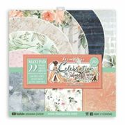 Stamperia One-sided paper set 30x30cm Celebration (22pcs), , papers sets, printing, scrapbooking