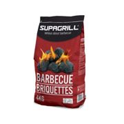 (Supagrill Barbecue Briquettes - 4kg ) Marko BBQ Barbecue Outdoor Garden Charcoal Barbeque Patio Party Cooking Large