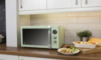Swan SM22085 Retro 25L Digital Retro Microwave: Green
