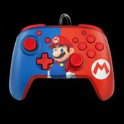 PDP Faceoff Deluxe Audio Wired Switch Controller - Mario