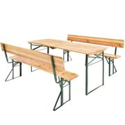 Table and bench set 176cm with backrest - Chinese fir