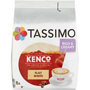 Tassimo Flat White Coffee Pods Pack of 8