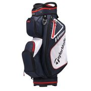 TaylorMade Select Plus Mens Navy Blue, Red And White Lightweight Golf Cart Bag