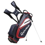 TaylorMade White and Red Lightweight Adjustable Select Plus Golf Stand Bag, One Size   Online Golf