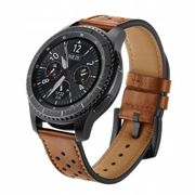 Tech Protect LEATHER CASUAL Band for Samsung galaxy smartwatch GEAR S3 - BROWN