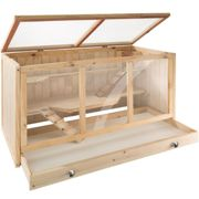 tectake Goldie hamster cage - gerbil cage, hamster house, wooden hamster cage - brown