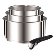 Tefal Ingenio Saucepan Set, Stainless Steel, Set of 4