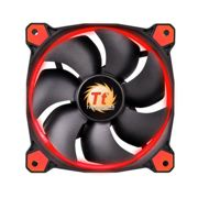 Thermaltake 120MM 1500RPM LED Red 3-Pin Fan - Black, Red