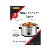 Toastabags Slow Cooker Liner Transparent Pack 5 - Size Approx 30 x 55cm