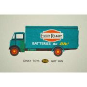 Tom Frost - Ever Ready Van Dinky Toys Print - Blue/Red
