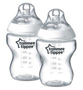 Tommee Tippee Closer to Nature Easivent Baby Feeding bottles 260ml - 2Pack