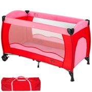 Travel cot for children pink