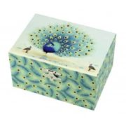 Trousselier - Green Peacock Musical Box
