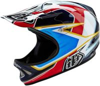 Troy Lee Designs D2 Sonar Downhill Helmet, white-red, size M L