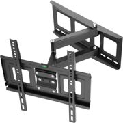 TV wall mount for 32-55 inch (81-140cm) can be tilted and swivelled spirit level - black