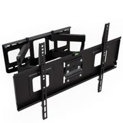 TV wall mount for 32-65 inch (81-165cm) can be tilted and swivelled spirit level - black
