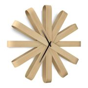 Umbra - Ribbonwood Wall Clock, beech natural